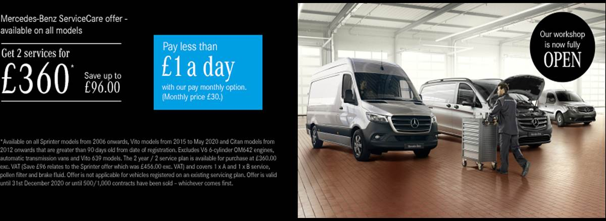 New Mercedes-Benz Sprinter ServiceCare Offers