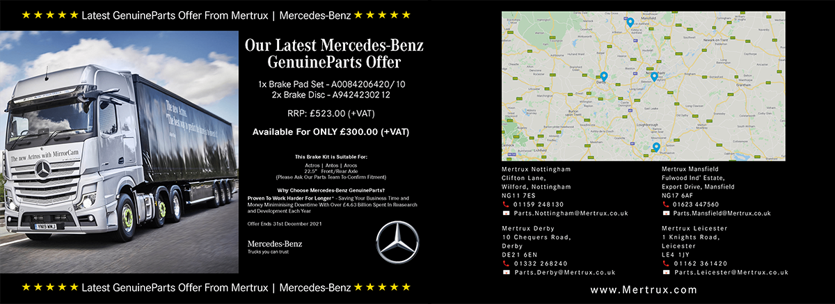 Truck Brakes Special Offer at Mertrux Mercedes-Benz